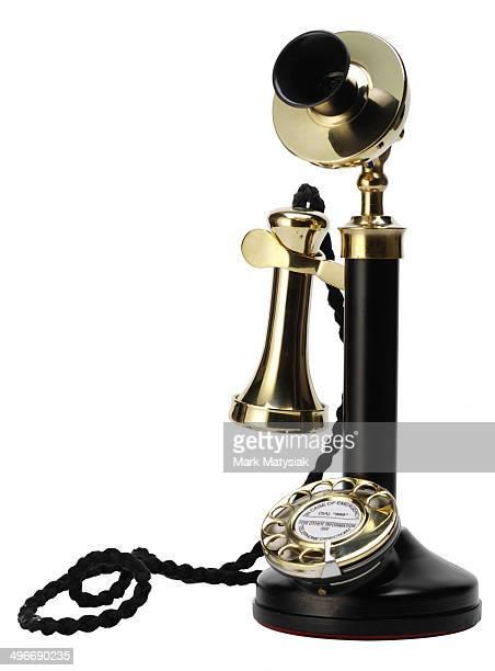 Isolated antique telephone