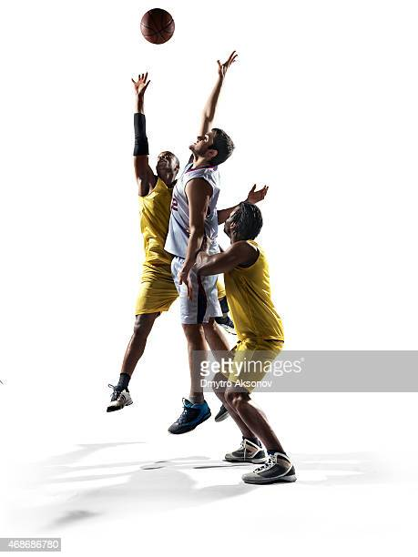 isolated basketball players - basketball player stock pictures, royalty-free photos & images