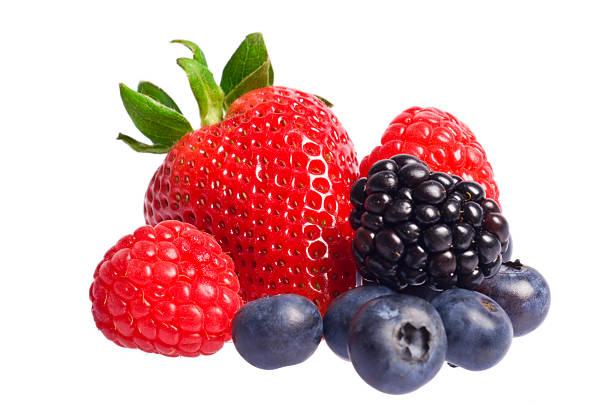isolated berries - 藍莓 個照片及圖片檔