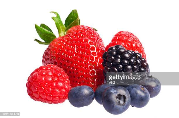 isolated berries - fruit stock pictures, royalty-free photos & images