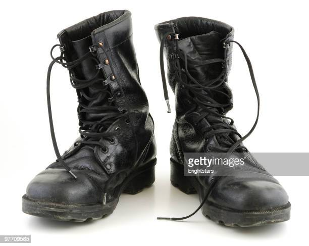 isolated boots - leather boot stock pictures, royalty-free photos & images