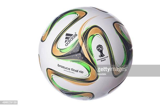 isolated brazuca football for the brazil worldcup final - amerikansk fotboll boll bildbanksfoton och bilder