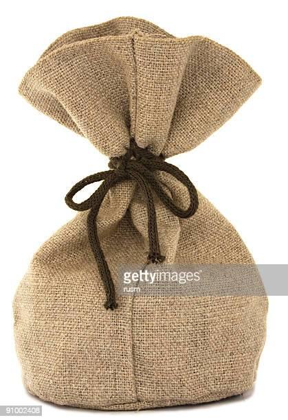 Isolated burlap bag on white background