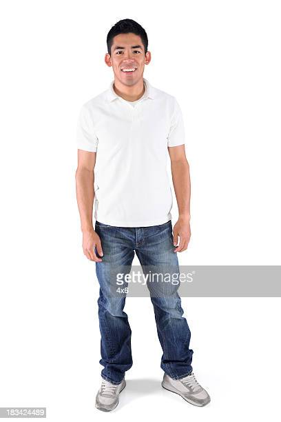 Isolated casual young man