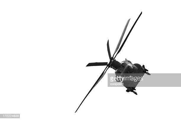 Isolated chinook helicopter