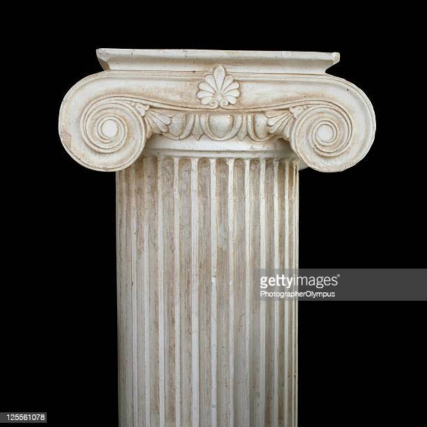 isolated column - classical greek style stock pictures, royalty-free photos & images