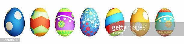 Isolé des œufs de Pâques