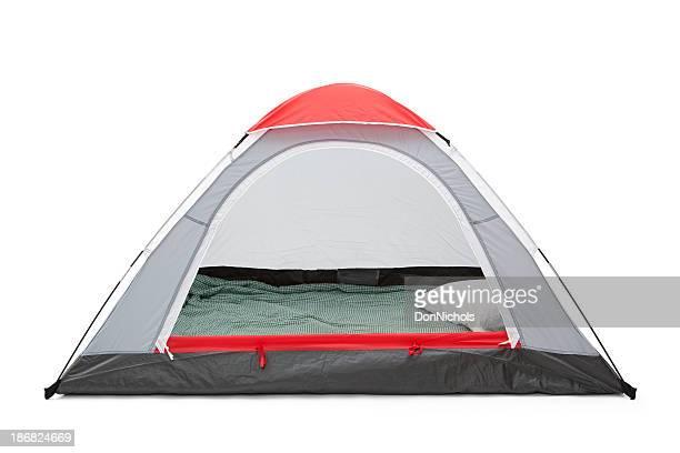 Isolated Empty Tent