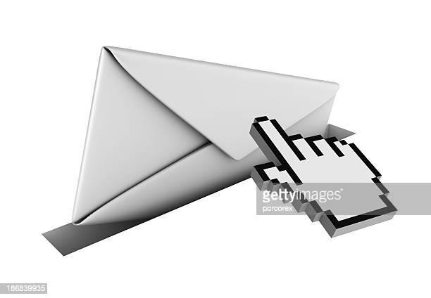 Isolierte Umschlag mit Cursor