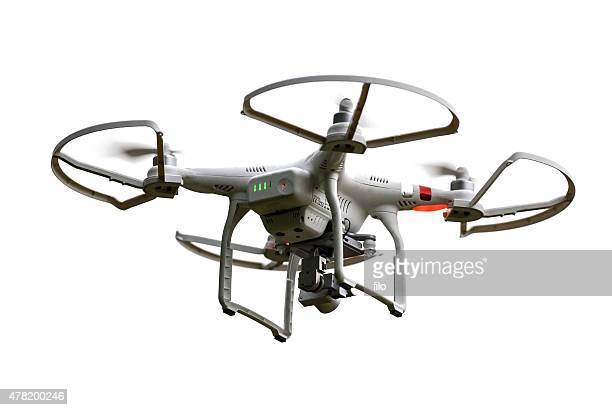 isolated flying phantom drone - drone stock pictures, royalty-free photos & images