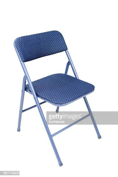 isolated folding chair - foldable stock pictures, royalty-free photos & images