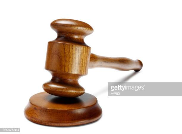 isolated gavel and block - mallet hand tool stock pictures, royalty-free photos & images
