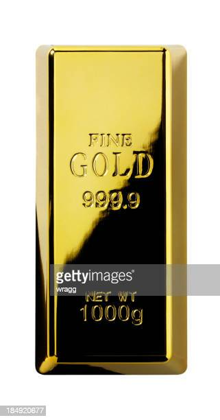Isolated Gold Bullion