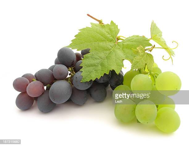 isolated grape - grape leaf stock pictures, royalty-free photos & images