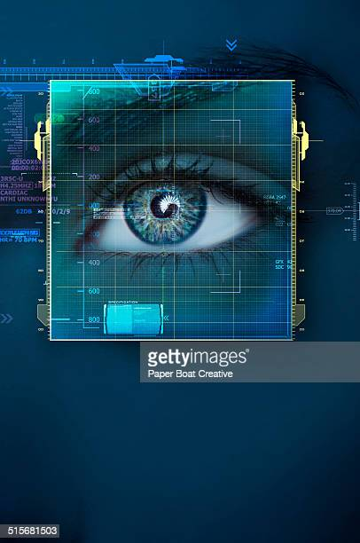 Isolated graphic of a woman's eye scan