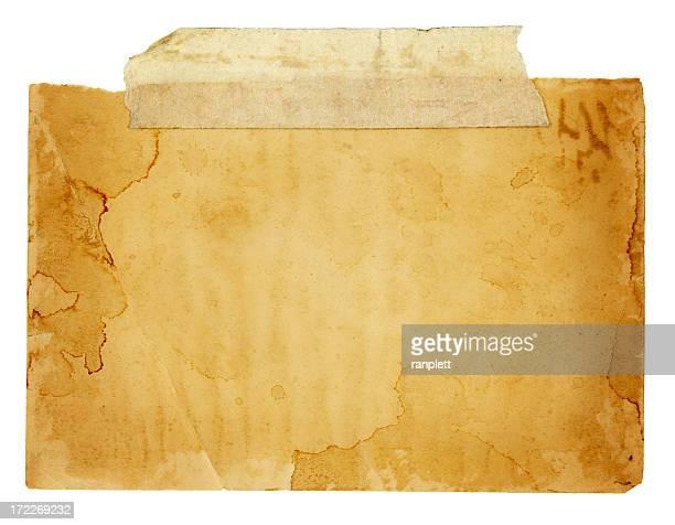 Isolé grunge papier Taped Up (Tracé de détourage