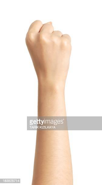 isolated hand, fist - human arm stock pictures, royalty-free photos & images