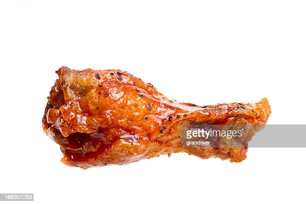 isolated hot wing - chicken wings stock pictures, royalty-free photos & images