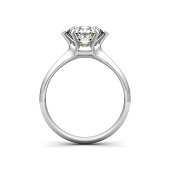 Isolated image of a diamond ring on a white background