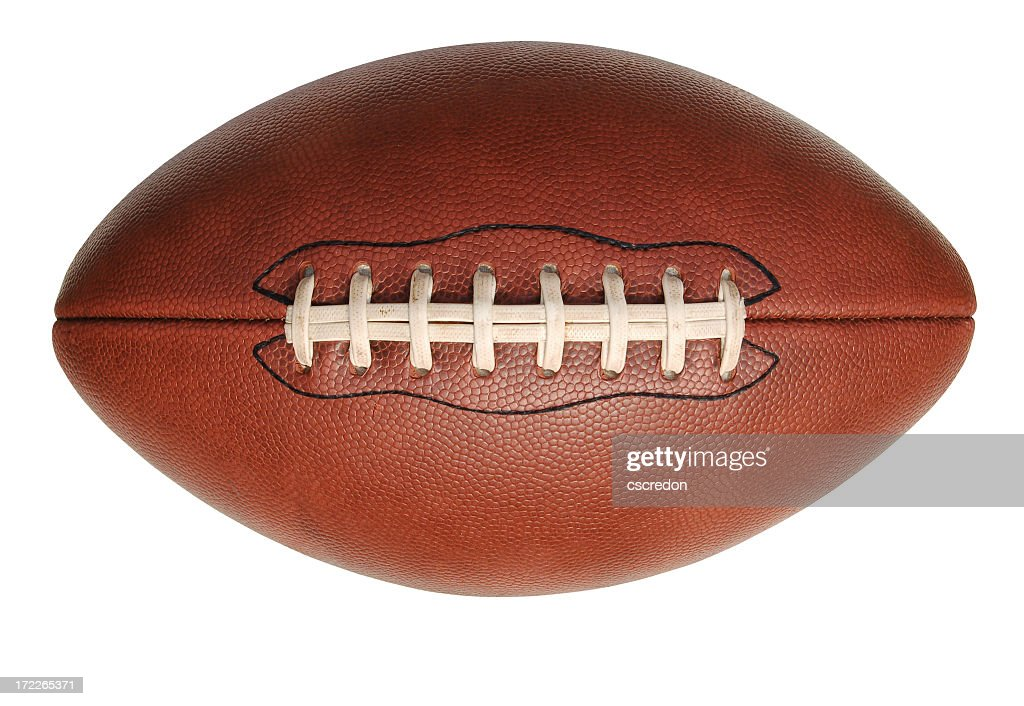 Isolated image of an American football : Stockfoto
