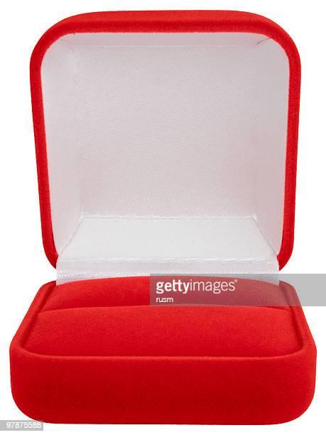 caixa de jóias isolada no fundo branco, traçado de recorte - caixa de joias - fotografias e filmes do acervo