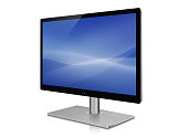 Isolated LCD or TFT Computer monitor with clipping path