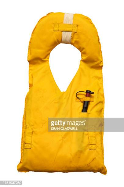 isolated life jacket - waistcoat stock pictures, royalty-free photos & images