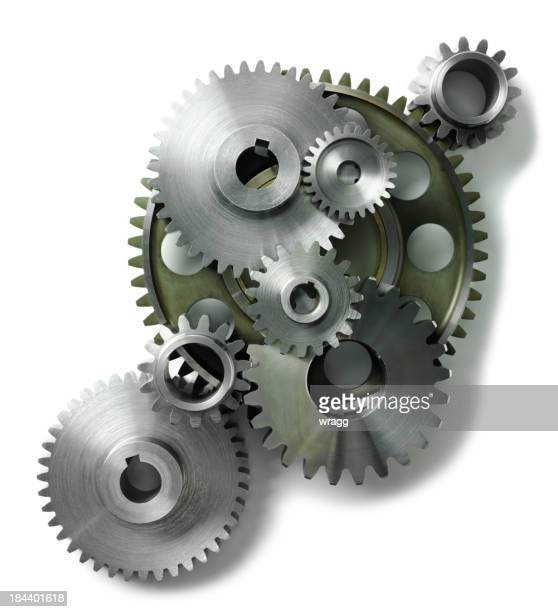 Isolated Machine Cogs and Gears