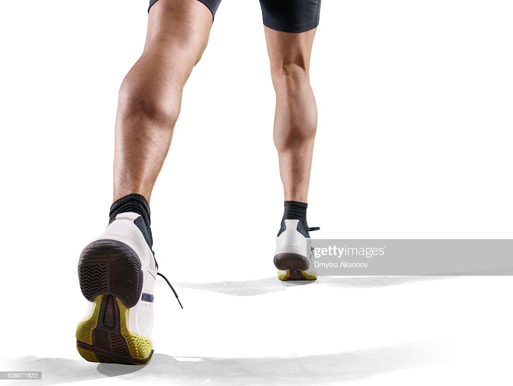 Isolato maschio Atleta : Foto stock