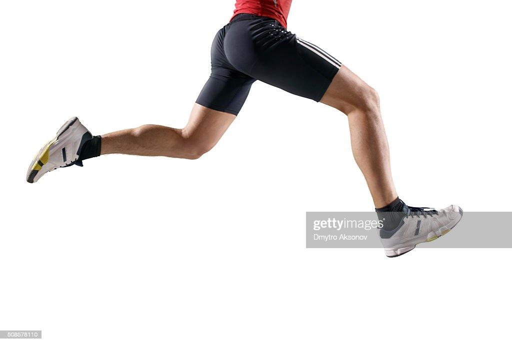 Isolierte männliche Athlet : Stock-Foto
