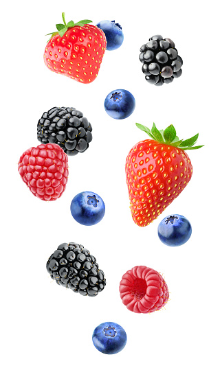 Isolated mixed berries 806861072
