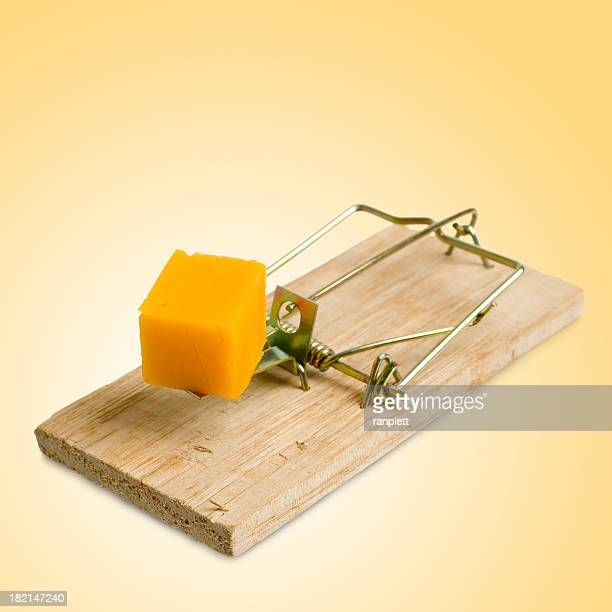 Isolated Mousetrap (yellow background)