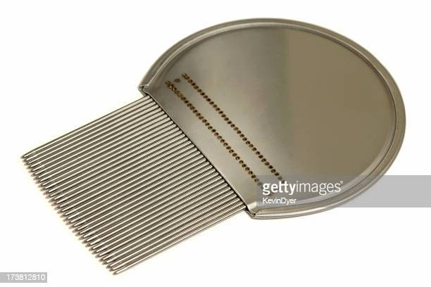 isolated nit ( head louse ) comb - louse stock pictures, royalty-free photos & images