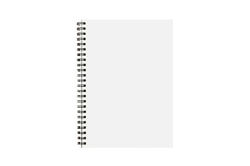 isolated notebook paper with blank page for note memo message on white background with clipping path 957797238