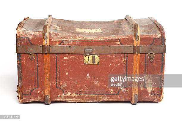 isolated old trunk xxxl - chest stock photos and pictures