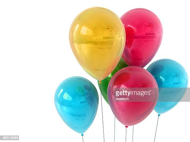 isolated party balloons - small group of objects stock pictures, royalty-free photos & images