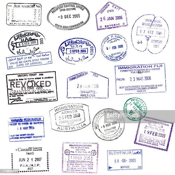 Isolated Passport Stamps (XXXL)