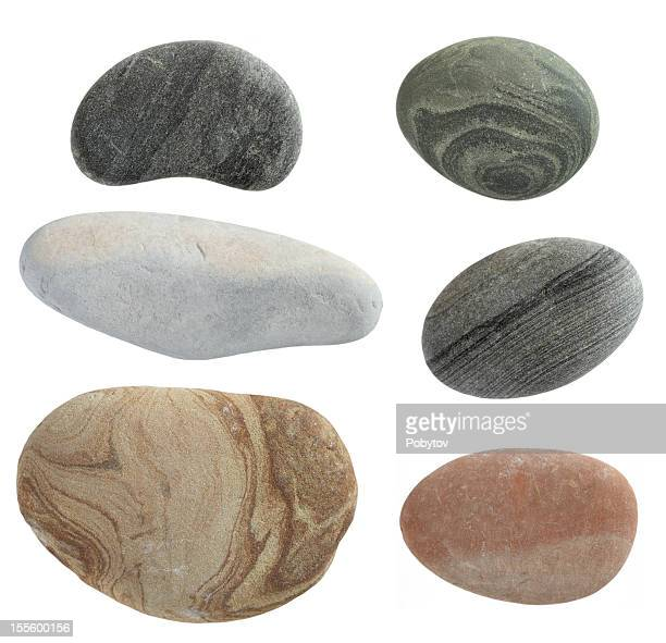 isolated pebbles stone - pebble stock photos and pictures