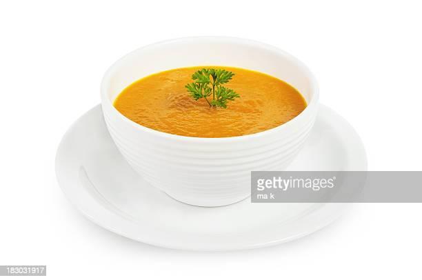 Sopa de calabaza amarilla