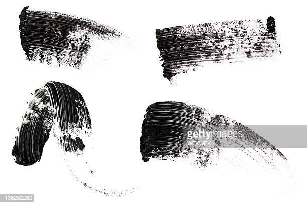 isolated picture of mascara smears - smudged stock pictures, royalty-free photos & images