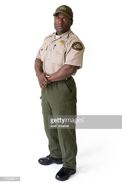 Isolated Portraits-African American Law Enforcement Officer
