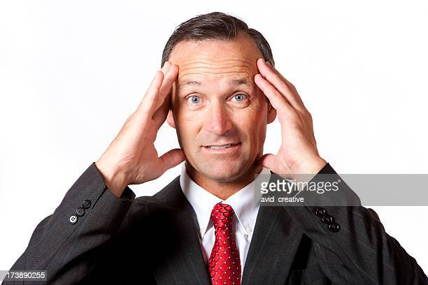 Isolated Portraits-Stressed Businessman