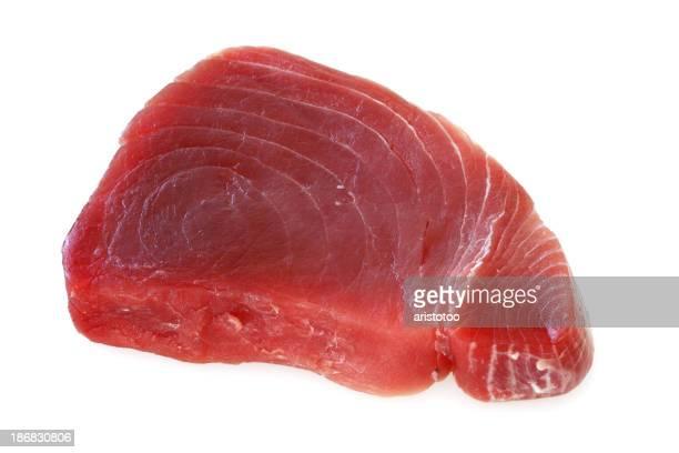 Isolated Raw Tuna Steak