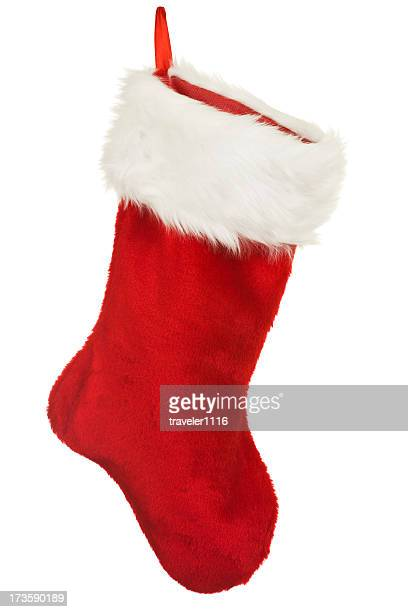 Isolated Red Christmas Stocking A Holiday Ornament