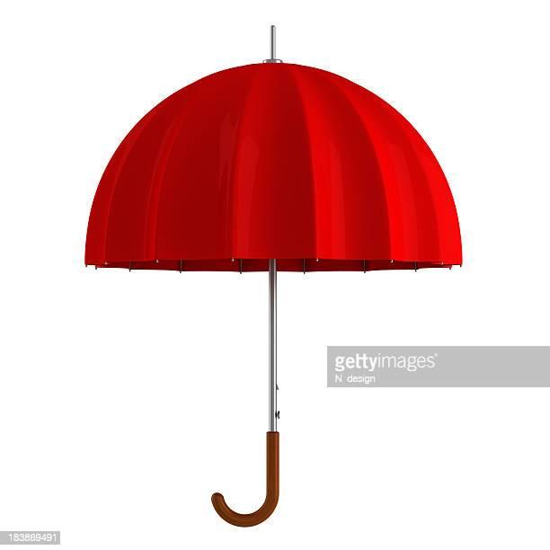 Roten Regenschirm Isoliert