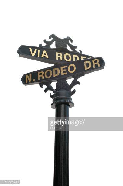 Isolated Rodeo Drive Sign - Beverly Hills