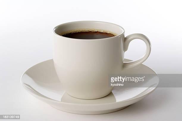 Isolé photo d'une tasse de café sur fond blanc