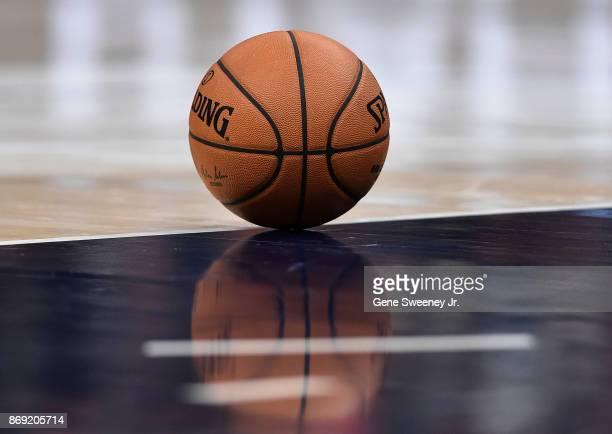 Isolated shot of a Spalding basketball used in the game between the Portland Trail Blazers and the Utah Jazz at Vivint Smart Home Arena on November...