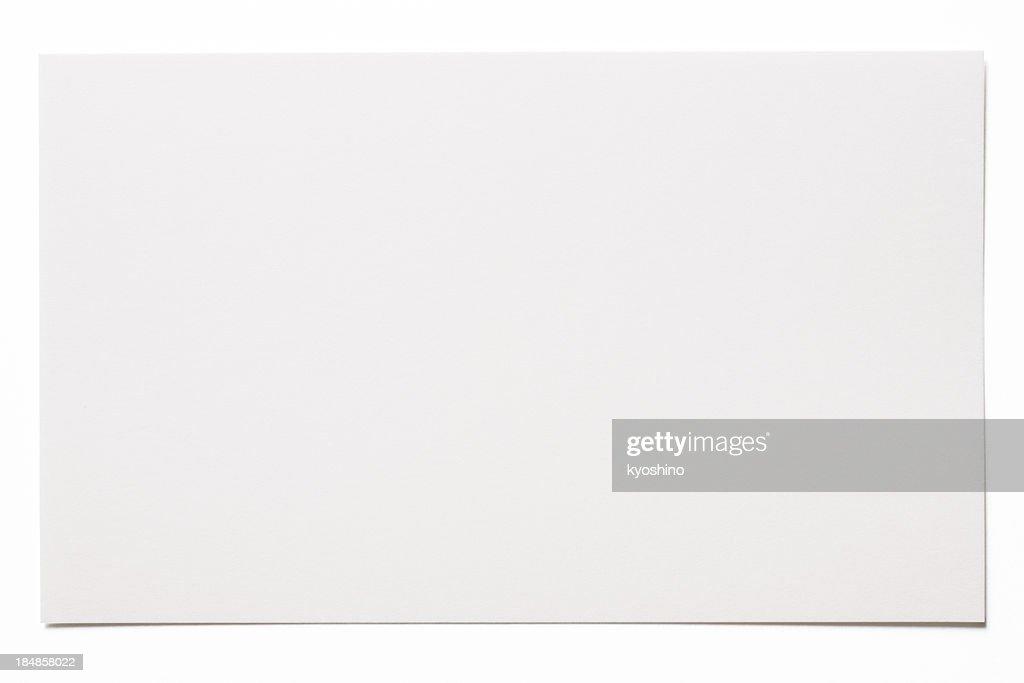 Isolierte Schuss von leere weiße Karte auf weißem Hintergrund : Stock-Foto