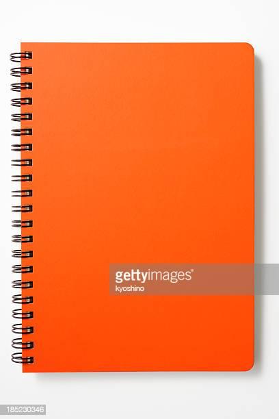 Isolé touche de rouge Carnet à spirale sur fond blanc